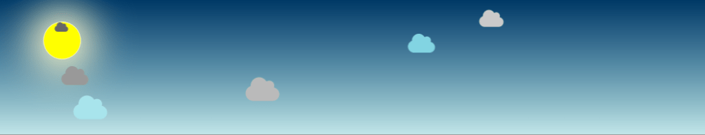 Animation nuages en CSS et icone Font Awesome